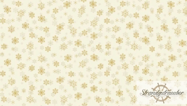 Patchworkstoff - Metallic Snowflake cream 1937C - Makower UK