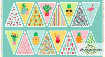 "Patchwork ""Fruity Friends Bunting"" 60cm - 1949 1 Makower UK"