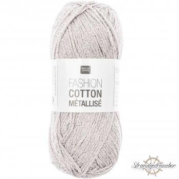 Rico Design Fashion Cotton Métallisé 50g 130m silber