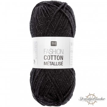 Rico Design Fashion Cotton Métallisé 50g 130m onyx