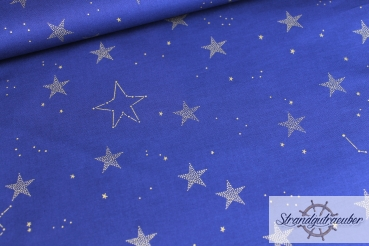 "Patchwork ""Lucky Stars"" navy by Sarah Jane"